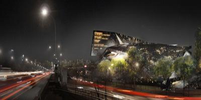 Image du projet de la philharmonie de Paris par Jean Nouvel.