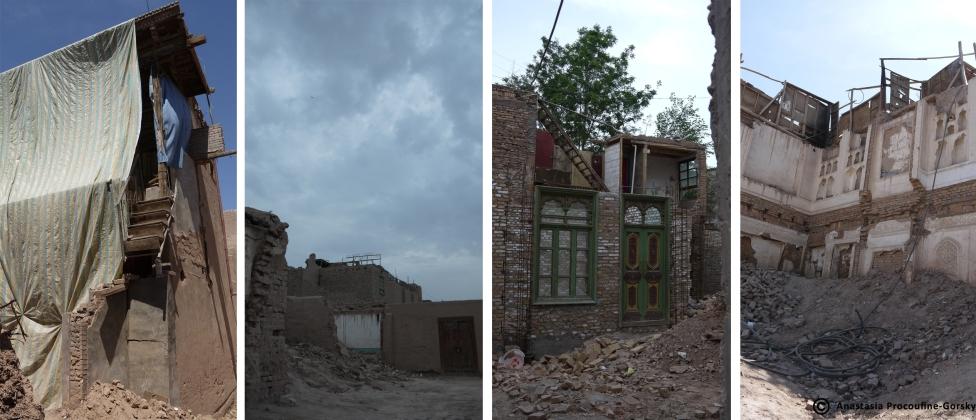 Maisons détruites de la vieille ville.