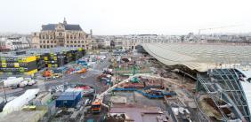 Illustration pour l'article ceux qui construisent sur le Site et Cité Atelier d'écriture pour jeunes architectes - la vie de chantier du projet des halles de Paris