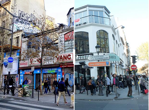 Illustration pour l'articleBarbès ou le marketing territorial - Le Barbès avant et après. Transformation du quartier par la gentrification