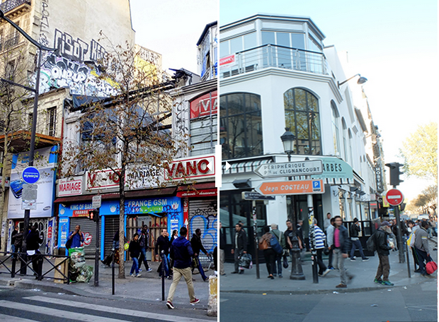 Illustration pour l'articleBarbès ou le marketing territorial - Le Barbès avant et après. Transformation du quartier par la gentrification