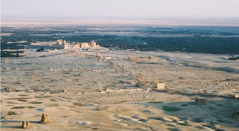 Palmyre patrimoine en péril sur Site et Cité vue sur la cité antique menacée par Daesh