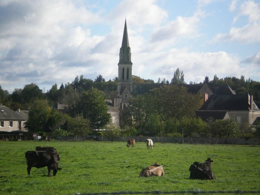 L'église de Saint-Aubin-du-Pavoil (Segré dans le 49) avant sa destruction