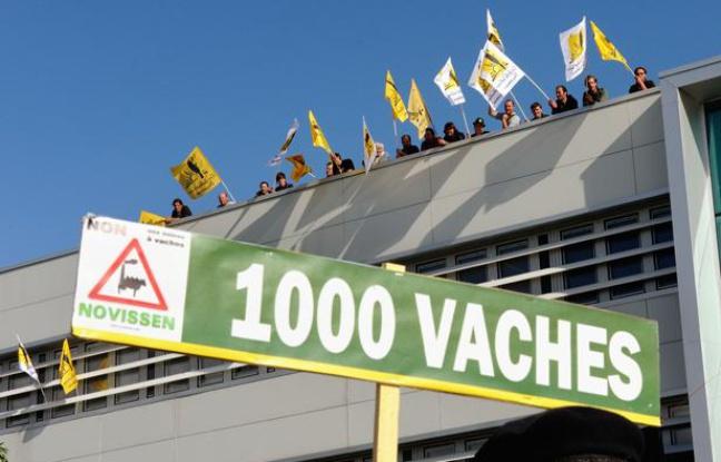 Manifestation contre la ferme des Millesvaches, un des symbole des grands projets inutiles imposés