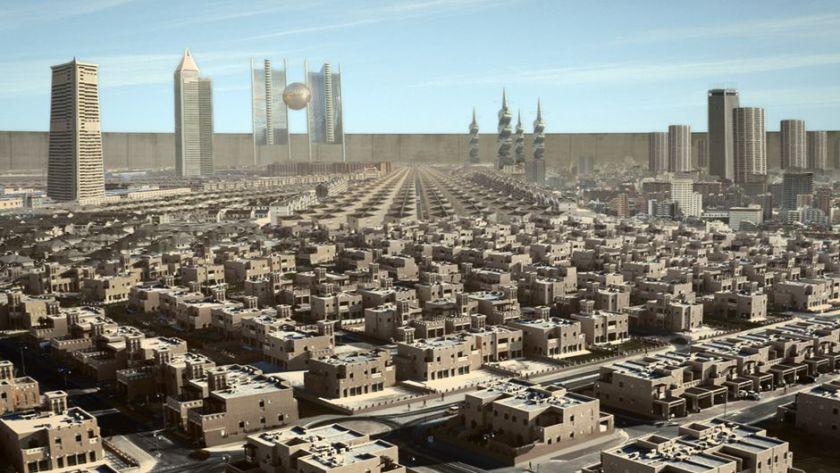 Vue générale sur la Ville (qui n'a pas de nom) avec le mur en arrière-plan