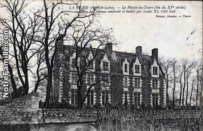 Carte postale façade est du château (début XIXe siècle)