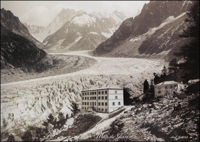 Le Grand Hotel du Montenvers, dans les années 1900 © Auguste Couttet
