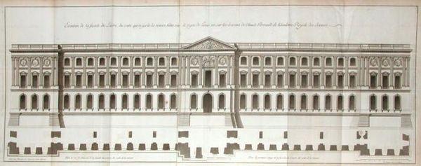 La colonnade du Louvre d'après Claude Perrault, architecte, fin XVIIe