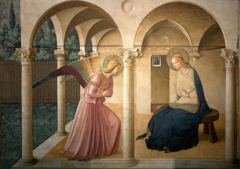 Fra Angelico - l'Annonciation, tableau du XVe siècle