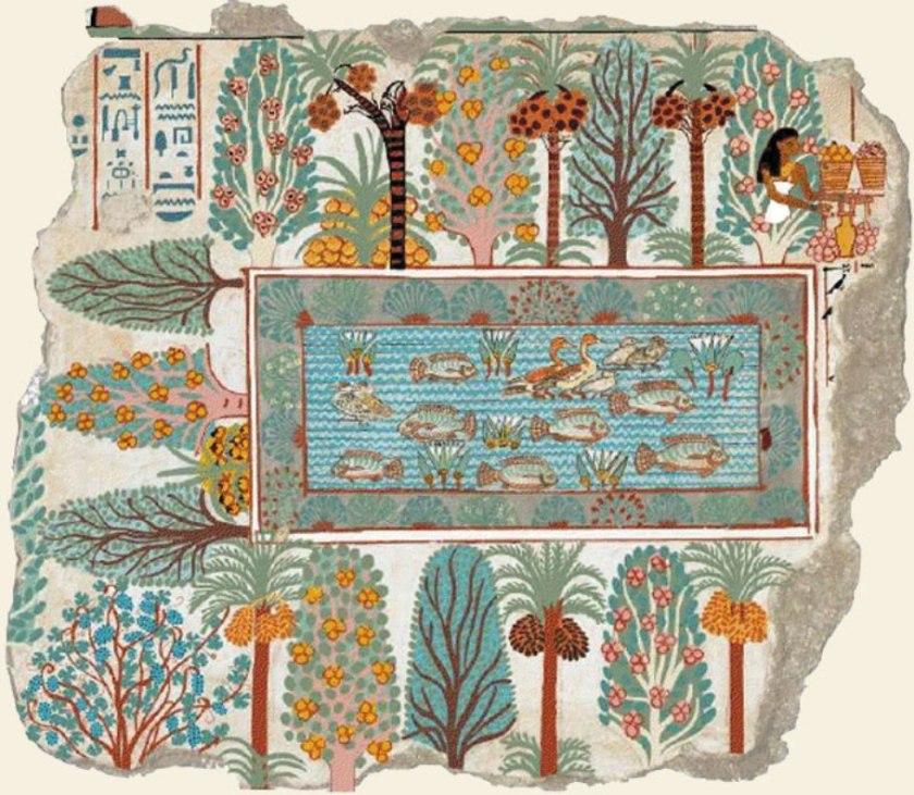 Le jardin de Nebamon, vers av. J.C. en Egypte